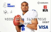 Card.com card with Dak Prescott
